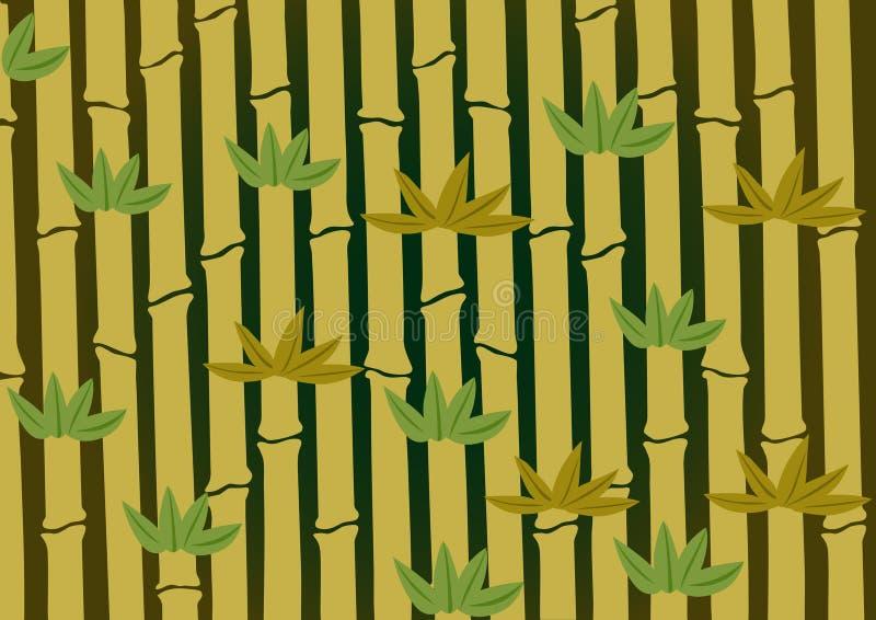 El fondo de bambú libre illustration