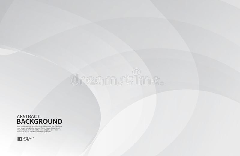 El fondo de Gray Curve Abstract, textura blanca, papel pintado, superficie, bandera, plantilla de la disposición de diseño de la  ilustración del vector