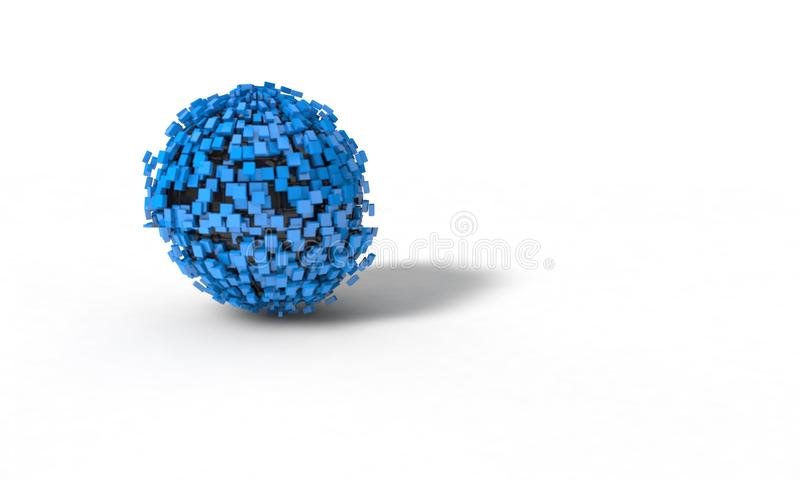 El fondo de la esfera abstracta, 3d rinde fotos de archivo