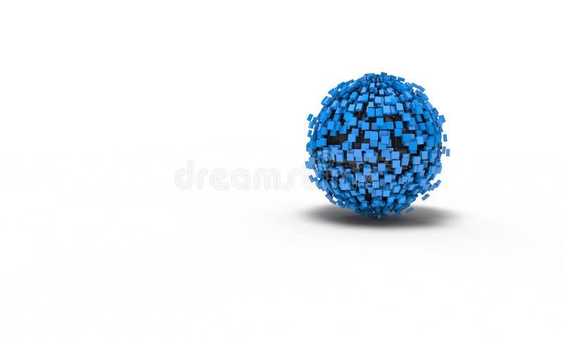 El fondo de la esfera abstracta, 3d rinde fotos de archivo libres de regalías