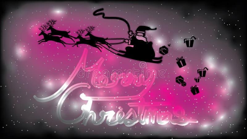El fondo de la Feliz Navidad, todo el mundo es feliz hoy libre illustration