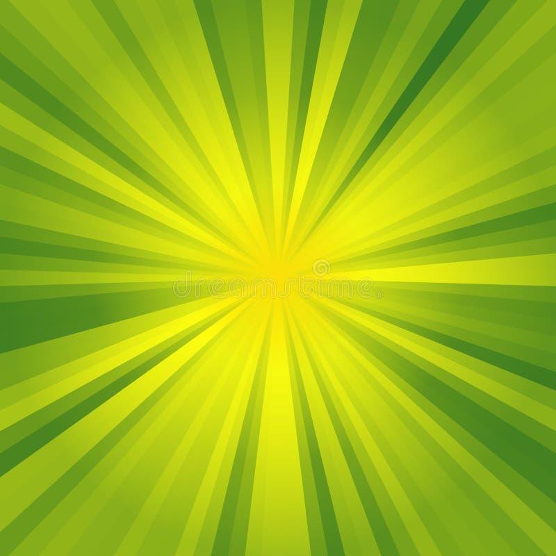 El fondo de la luz ámbar verde y con textura abstracta hermosa, se enciende en la calle ilustración del vector