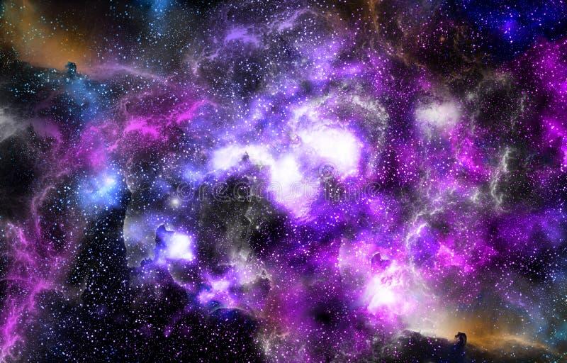 El fondo de la nebulosa protagoniza el universo foto de archivo