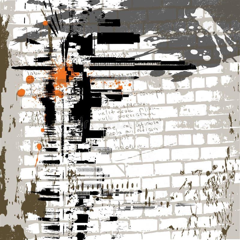 El fondo de la pared del grunge del extracto del vector ilustración del vector
