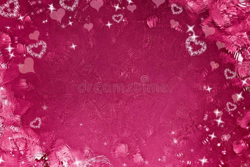 El fondo de la tarjeta del día de San Valentín fotografía de archivo