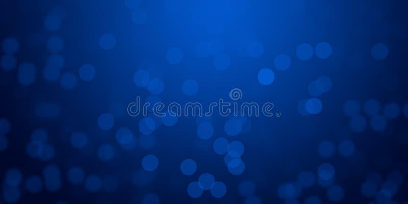 El fondo de las luces de la falta de definición que brillaba intensamente azul y de-enfocó el papel pintado del fondo de las luce imagen de archivo