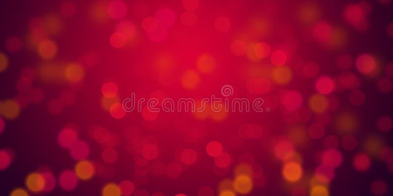 El fondo de las luces de la falta de definición que brillaba intensamente roja y de-enfocó el papel pintado del fondo de las luce imagen de archivo libre de regalías