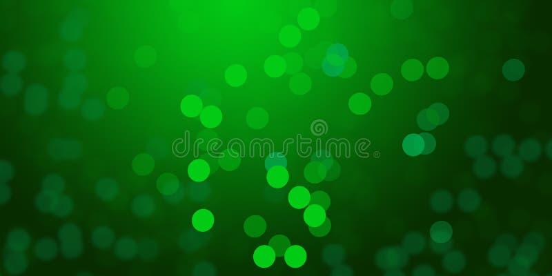 El fondo de las luces de la falta de definición que brillaba intensamente verde y de-enfocó el papel pintado del fondo de las luc imagenes de archivo