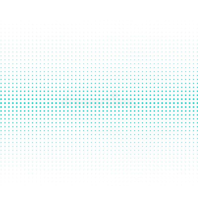 El fondo de los puntos de la turquesa de diversos tamaños tiene diversa densidad en blanco libre illustration