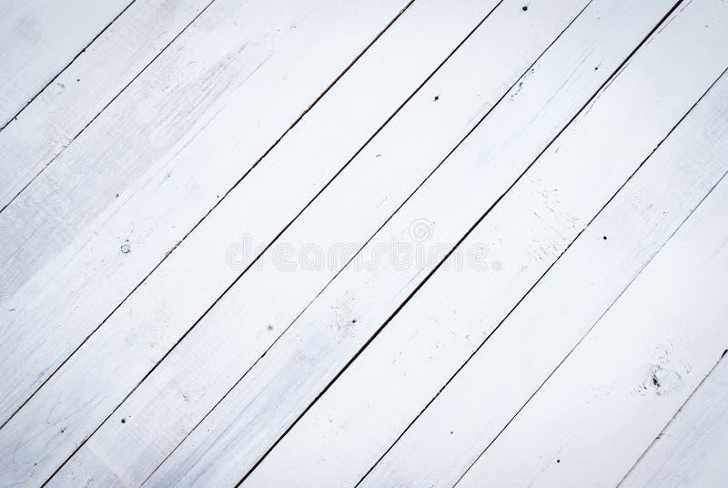 El fondo de madera blanco, obsolote pintó la textura de madera imagen de archivo libre de regalías
