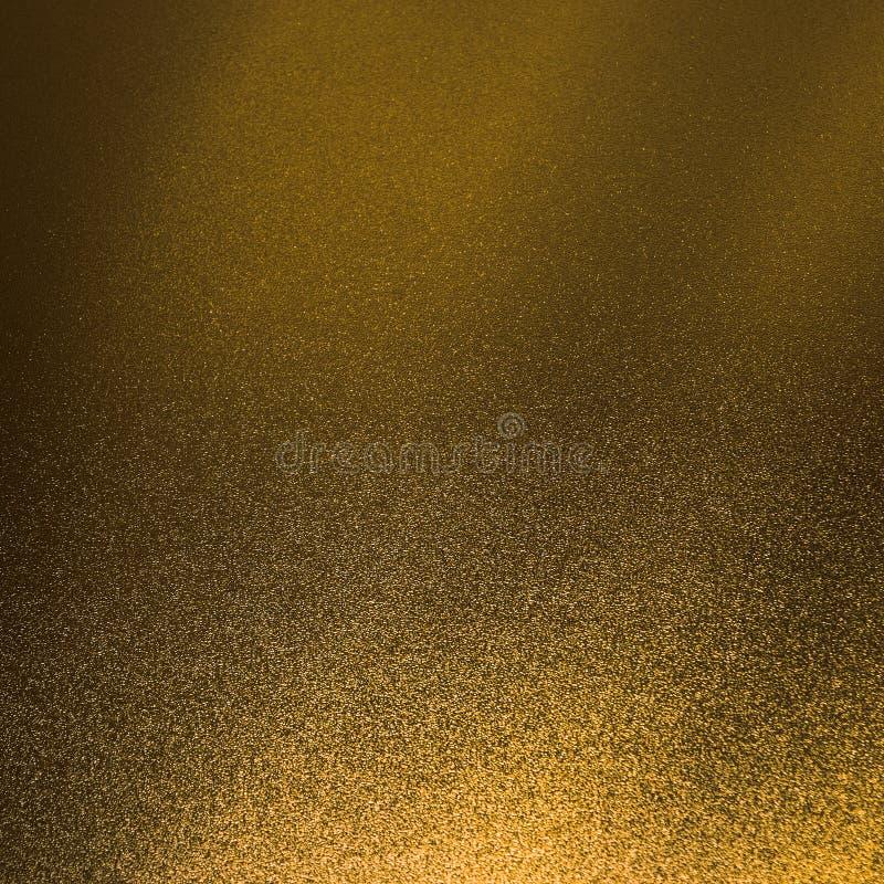 El fondo del brillo del oro y la chispa de la textura brillan reflejo de oro foto de archivo