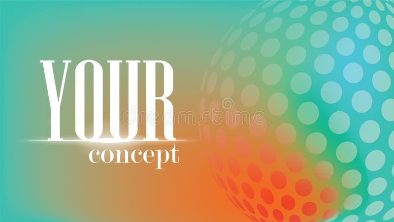 El fondo del elemento del círculo, el mundo es colores de un círculo mira para arriba una relación hermosa foto de archivo libre de regalías