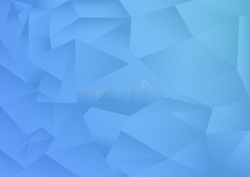El fondo del extracto del modelo del polígono, tema azul, vector, ejemplo, espacio de la copia para el texto libre illustration