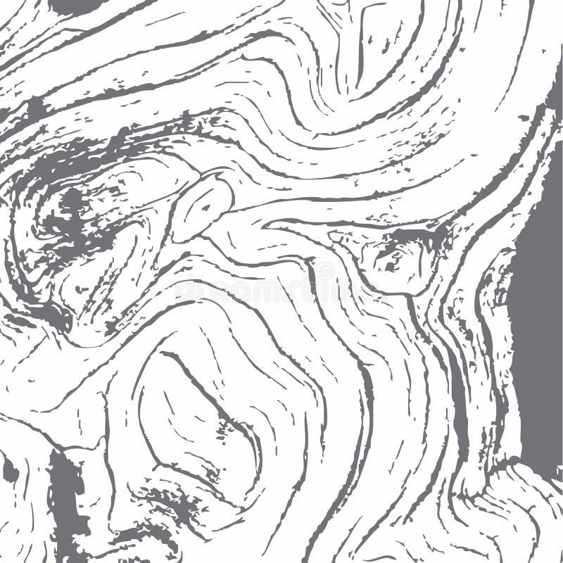 El fondo del Grunge aherrumbró las texturas sucias dañadas metálicas de madera con los rasguños en superficie dañada stock de ilustración