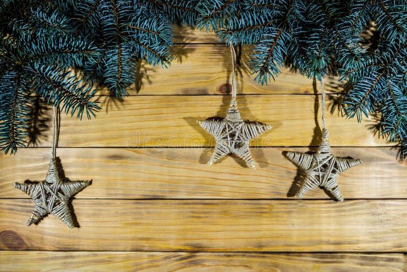 El fondo del pino chamuscado sube, con las ramas spruce azules, a h fotos de archivo libres de regalías