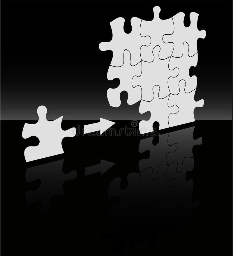 El fondo del rompecabezas del absract del vector ilustración del vector
