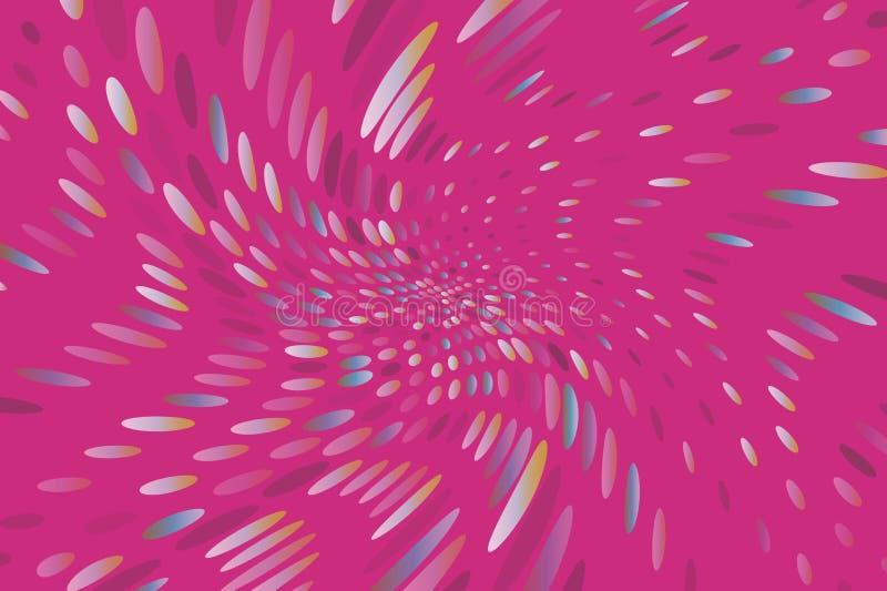 El fondo dinámico brillante con los puntos que remolinan, óvalos le gusta confeti Ilustración del vector Estilo moderno, minimali libre illustration