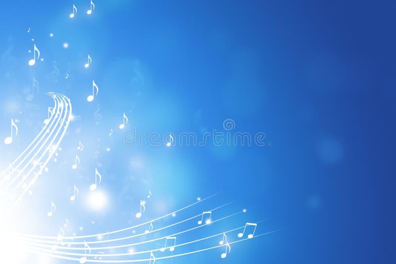 La música observa el fondo azul libre illustration