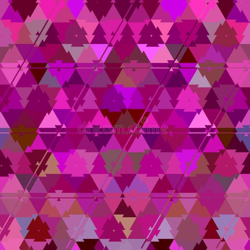 El fondo geométrico abstracto, los triángulos rosados con multicolors irradia stock de ilustración