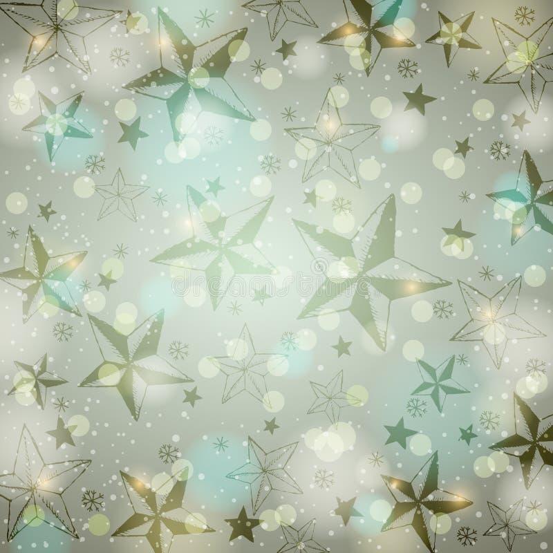 El fondo gris del brillo con la Navidad protagoniza libre illustration