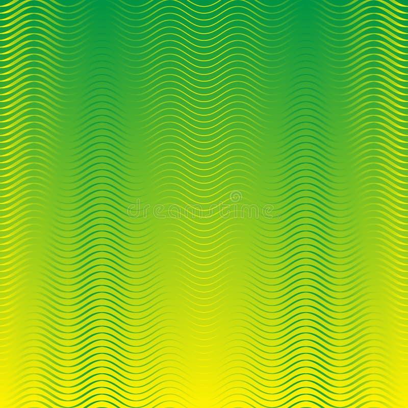 El fondo inconsútil amarillo verde del modelo de ondas para el papel pintado, modelo archiva, fondo de la página web, blog, textu ilustración del vector