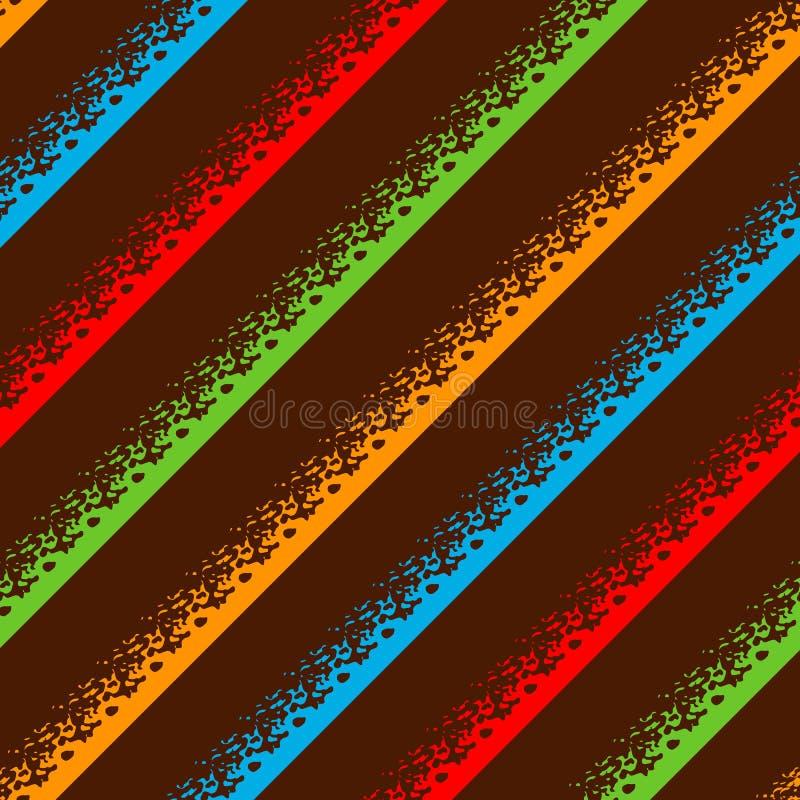 El fondo inconsútil colorido abstracto del modelo con grunge alinea el ejemplo del vector Modelo abstracto del movimiento del cep ilustración del vector