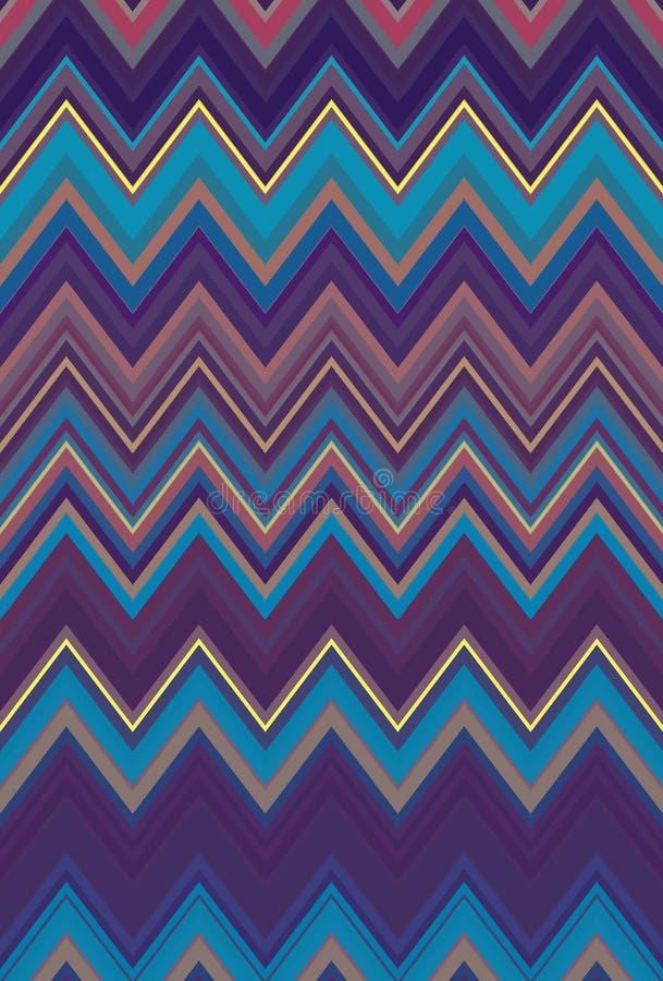El fondo inconsútil colorido del arte abstracto del modelo de zigzag de Chevron, arco iris tiende ilustración del vector