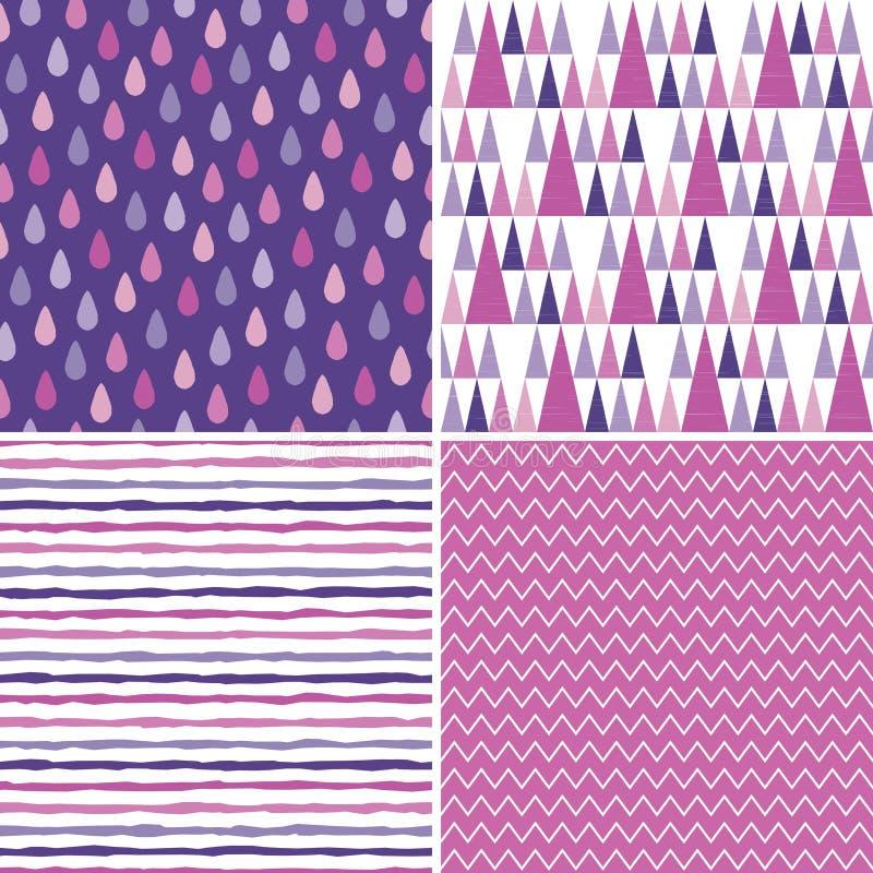 El fondo inconsútil del inconformista modela rosa magenta púrpura stock de ilustración