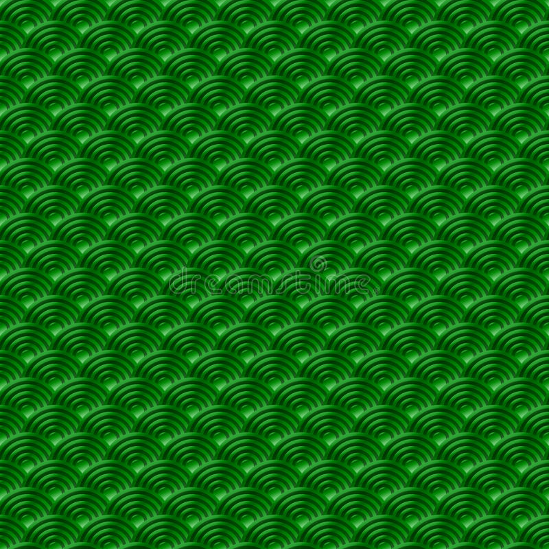 El fondo inconsútil simple inconsútil verde chino de la naturaleza del modelo de las escalas de pescados del dragón del modelo co libre illustration