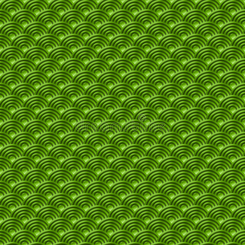 El fondo inconsútil simple inconsútil verde chino de la naturaleza del modelo de las escalas de pescados del dragón del modelo co ilustración del vector