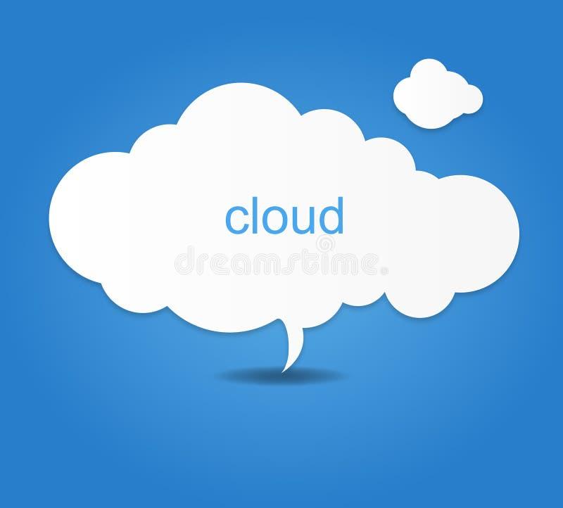 El fondo integrado por el Libro Blanco se nubla sobre azul Ilustración del vector stock de ilustración