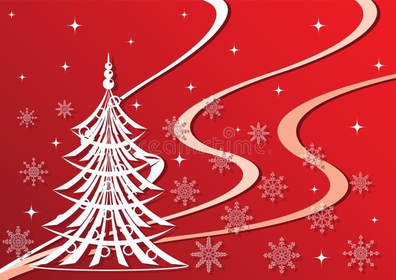 El fondo por el Año Nuevo y la Navidad stock de ilustración