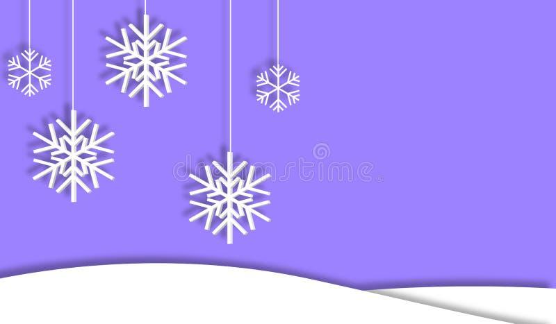 El fondo primero nieva los copos de nieve con la sombra libre illustration