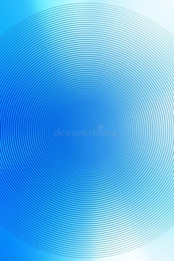 El fondo radial de la pendiente, cielo azul, empa?a el extracto suave liso del papel pintado de la textura Papel pintado ligero libre illustration
