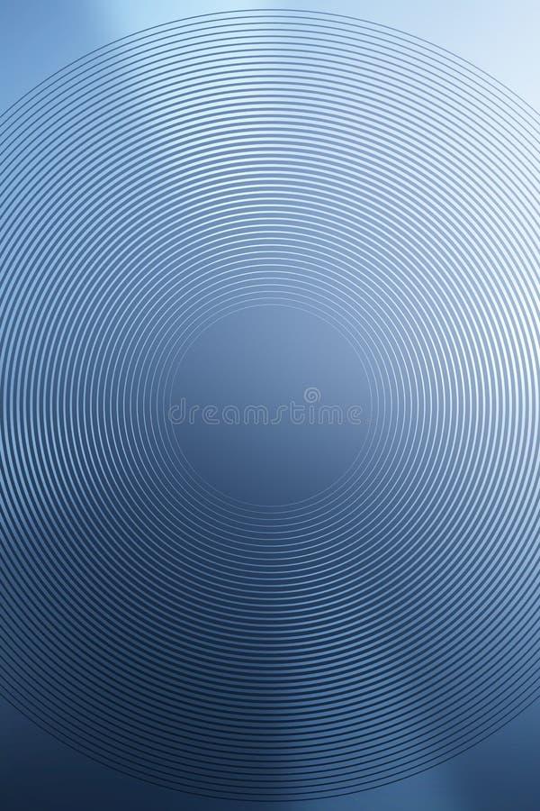 El fondo radial de la pendiente, cielo azul, empa?a el extracto suave liso del papel pintado de la textura Remolino ligero stock de ilustración