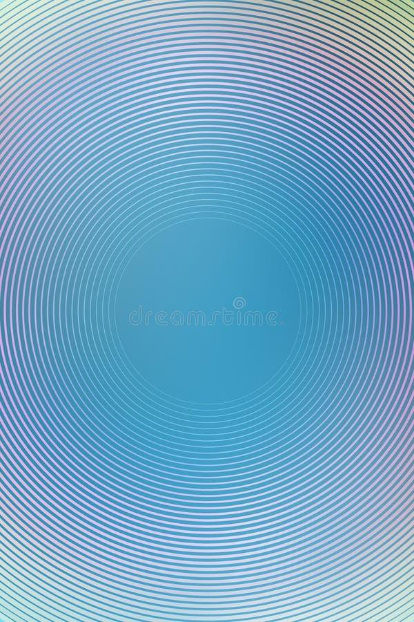 El fondo radial de la pendiente, cielo azul, empa?a el extracto suave liso del papel pintado de la textura Suavemente pastel foto de archivo