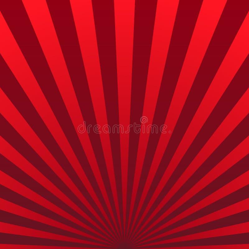 El fondo retro del vintage del sol brillante irradia Vector libre illustration