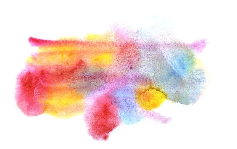 El fondo se hace de puntos de la aguamarina de rosado, de rojo, el azul y el grito ilustración del vector