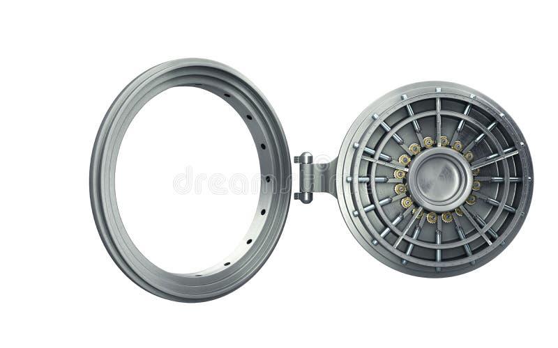 El fondo seguro abierto grande 3d de alta resolución de la puerta rinde libre illustration