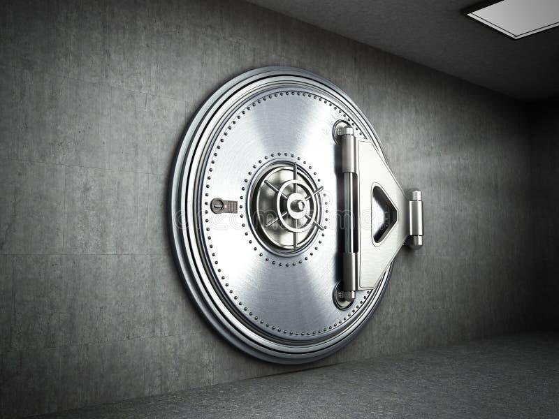 El fondo seguro grande 3d de alta resolución de la puerta rinde libre illustration