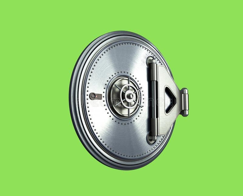 El fondo seguro grande 3d de alta resolución de la puerta rinde verde skreen ilustración del vector