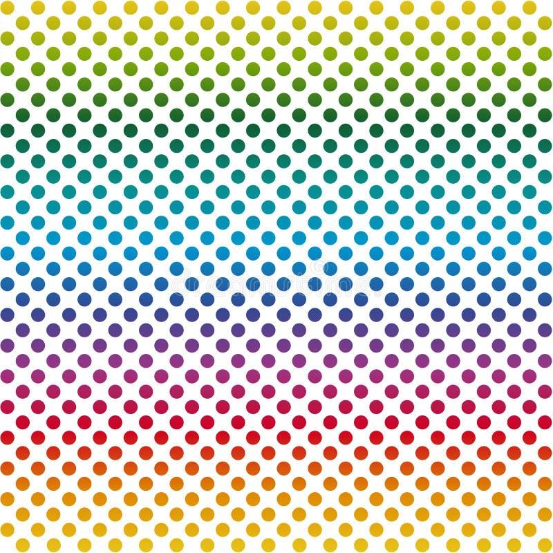 El fondo sin fin puntea colorido stock de ilustración