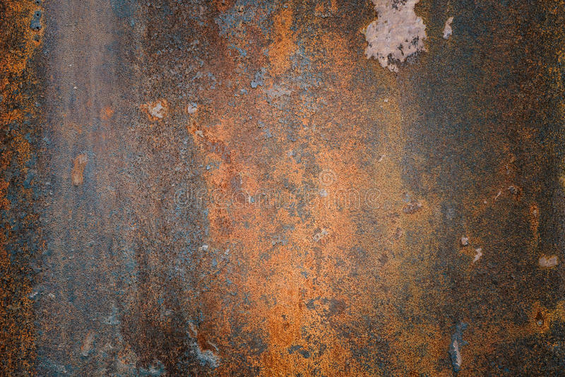El fondo texturizado acero oxidado del grunge del vintag foto de archivo libre de regalías