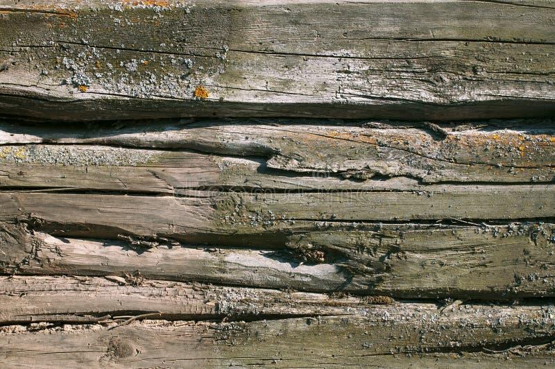 El fondo texturizado de viejos tableros descolorados grises cubri? fotografía de archivo