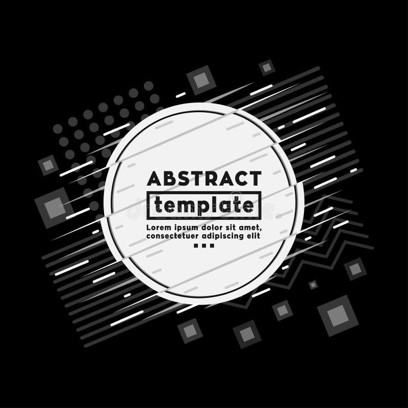 El fondo y las texturas abstractos diseñan la plantilla Estilo moderno de Memphis del inconformista Vector y ejemplo libre illustration