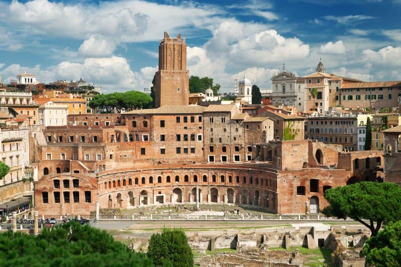 El foro de Trajan en Roma fotografía de archivo