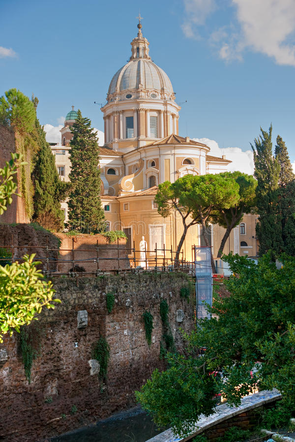 El foro de Trajan, Roma. fotografía de archivo libre de regalías