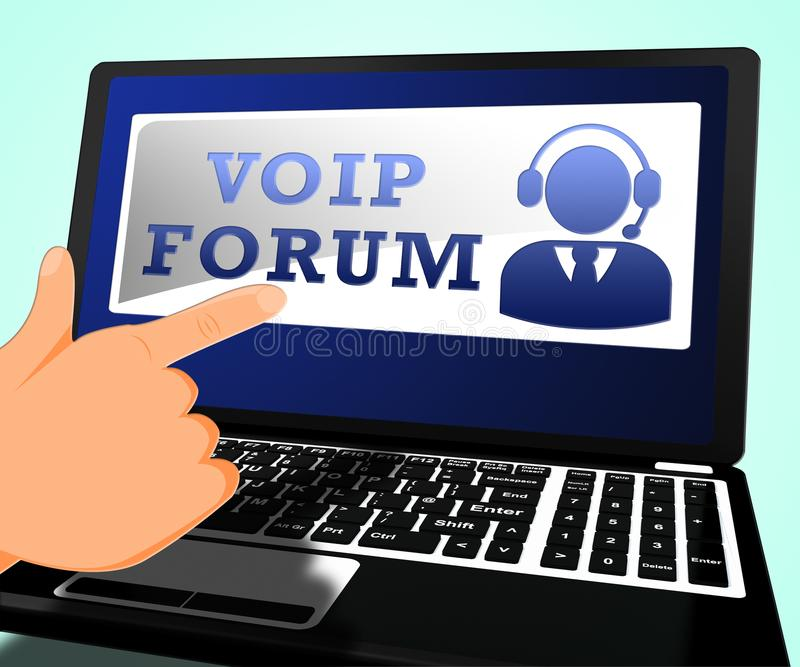 El foro de Voip significa el ejemplo de la voz 3d de Internet libre illustration