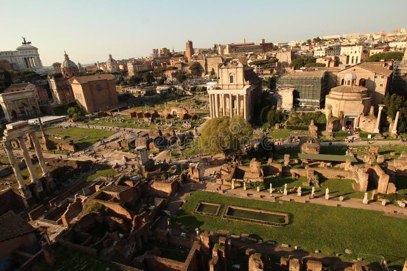 El foro romano visto desde arriba fotos de archivo libres de regalías
