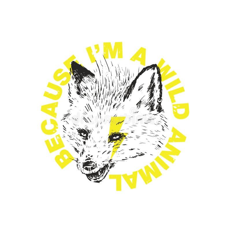El Fox ha descubierto colmillos libre illustration